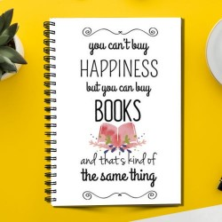 Happiness but you can buy books (Spiral note book)