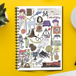 Harry Potter Characters (Spiral note book)