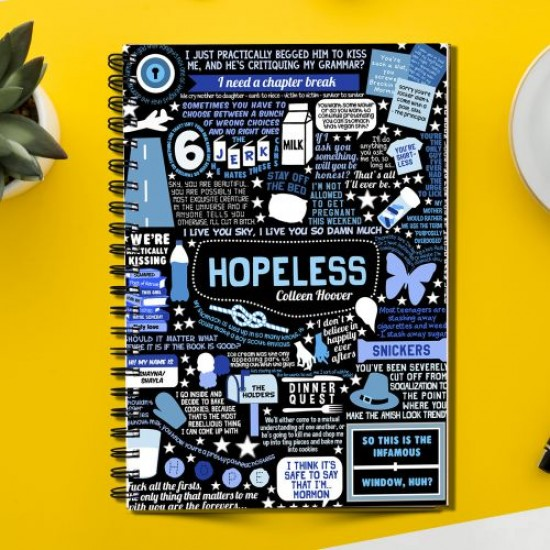HOPELESS of Colleen Hoover (Spiral note book)