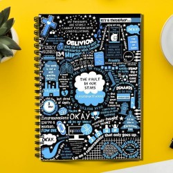The Fault in Our STARS 'Okay' of John Green  (Spiral note book)