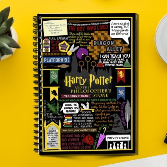 Harry potter and the philosophers stone Jk Rowling  (Spiral note book)