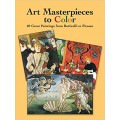 Art Masterpieces to Color: 60 Great Paintings from Botticelli to Picasso (PDF) (Print)