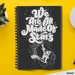 We are all Made of Stars (Spiral note book)