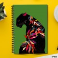 Abstract Leopard (Spiral note book)