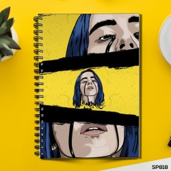 Billie Eilish Painting (Spiral note book)
