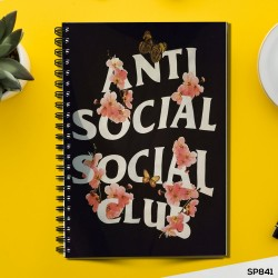 Anti Social Social Club  (Spiral note book)