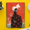 Abstract Fashion Vintage (Spiral note book)