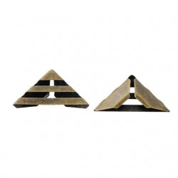Hot Decorative Mtal Corner Scrapbooking albums Triangular Corner Protector Stripes Bronze tone 8 pcs